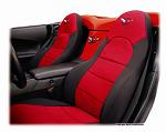 Custom Seat Covers like these Coverking seat covers with GM Racing logo are available for most cars and trucks.